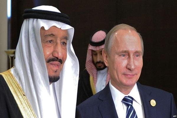 الملك سلمان وبوتين في لقاء سابق