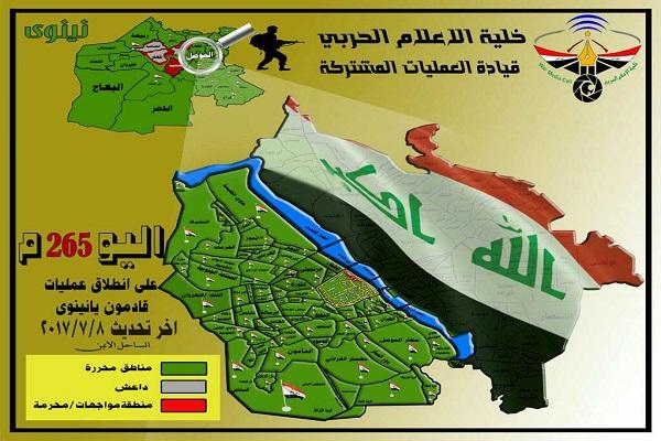 العراق يضبط ساعته على إعلان تحرير الموصل بالكامل