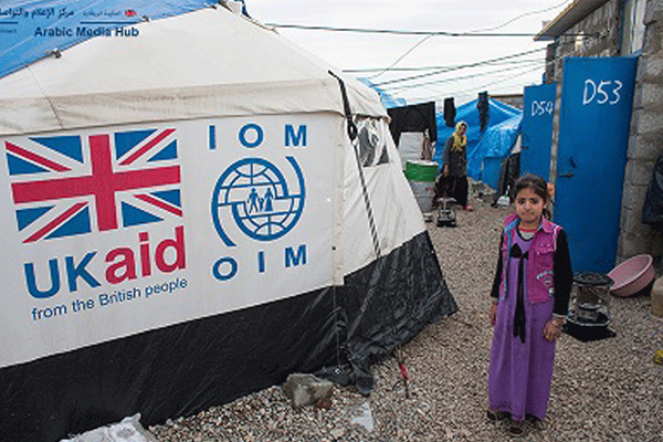 استمرار دعم بريطانيا للاجئين في مخيماتهم
