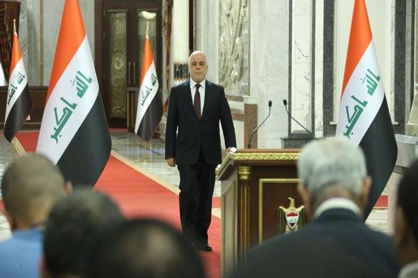 العبادي في مؤتمر صحافي في بغداد
