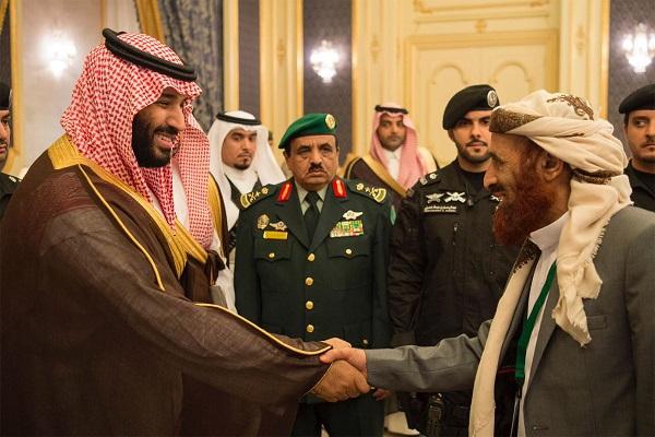 الأمير محمد بن سلمان خلال استقباله أعضاء مجلس النواب اليمني