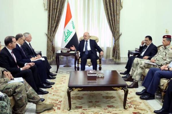 ماتيس يبلغ العبادي رفض واشنطن أي إجراء لتقسيم العراق