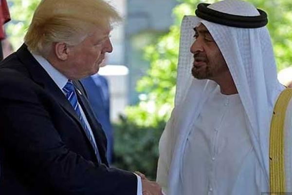 الشيخ محمد بن زايد آل نهيان بحث مع ترمب العلاقات بين البلدين