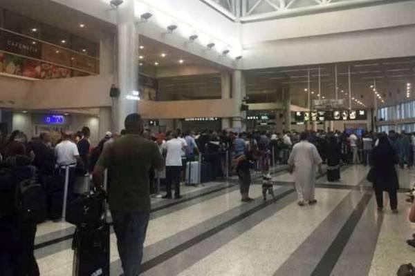 مطار أربيل مزدحما بالمغادرين قبيل حظر الطيران في اجواء اقليم كردستان
