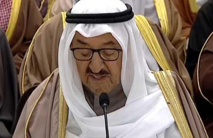 الشيخ صباح يلقي كلمته