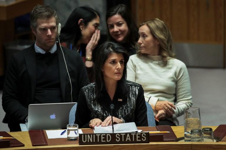 السفيرة الاميركية لدى الامم المتحدة نيكي هايلي