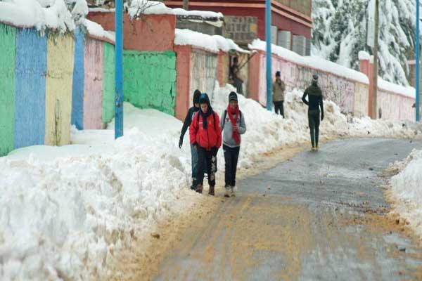 الثلوج الكثيفة أعاقت العملية التدريسية
