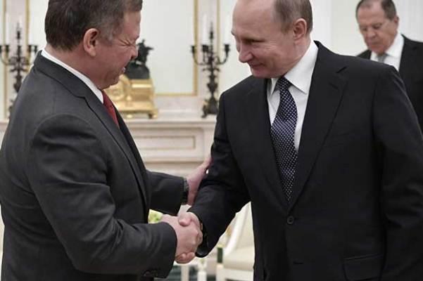 بوتين مستقبلا عبدالله الثاني