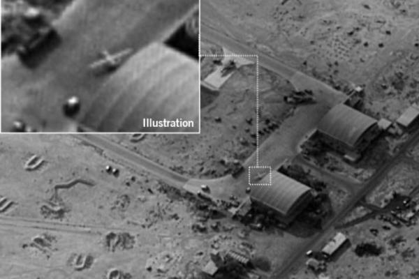 صورة نشرها المتحدث باسم الجيش الإسرائيلي تظهر القاعدة الإيرانية في سوريا