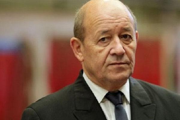 أيف لودريان وزير الخارجية الفرنسي