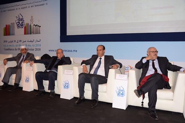 في الصورة من اليمين إلى اليسار: فيصل جلول ومحمد سالم الشرقاوي وخليل تفكجي وناجح داود بكيرات.