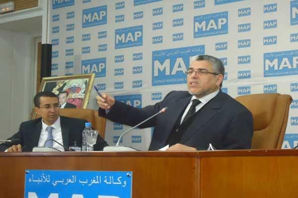 المصطفى الرميد يتحدث في لقاء وكالة الانباء المغربية