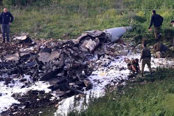 اسقاط طائرة إف 16 في سوريا