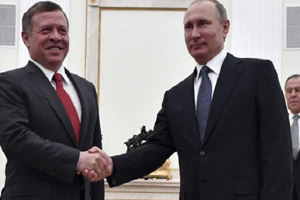 قمة سابقة بين بوتين وعاهل الأردن (أرشيف)