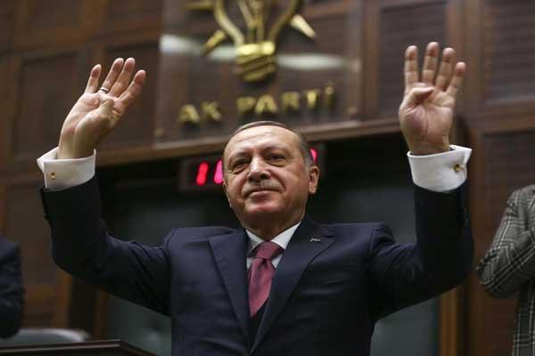 إردوغان خلال كلمته اليوم في البرلمان