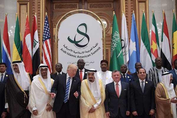 زعماء عرب خلال القمة الإسلامية الأميركية التي استضافتها الرياض في مايو 2017