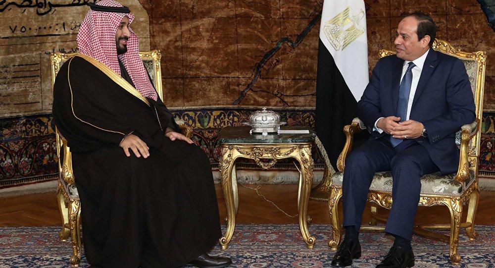 لقاء سابق بين الرئيس السيسي والأمير محمد بن سلمان