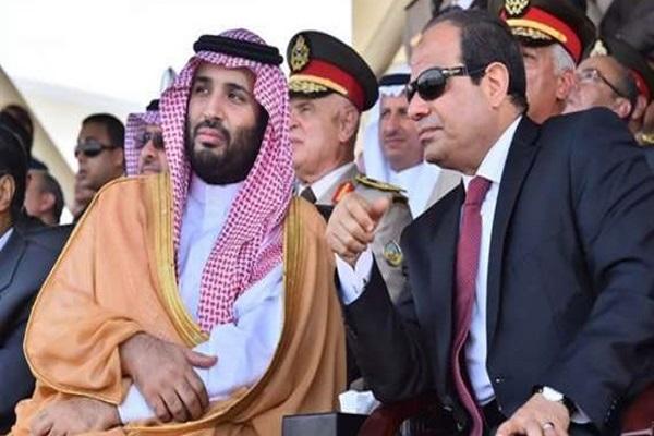 الرئيس عبد الفتاح السيسي والأمير محمد بن سلمان خلال لقاء سابق