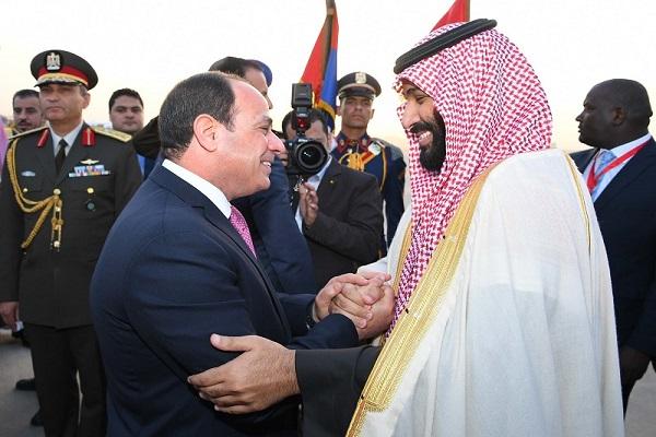 الرئيس السيسي خلال استقباله الأمير محمد بن سلمان