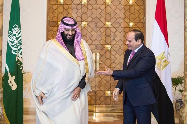 الرئيس السيسي خلال استقباله لولي العهد السعودي الأمير محمد بن سلمان