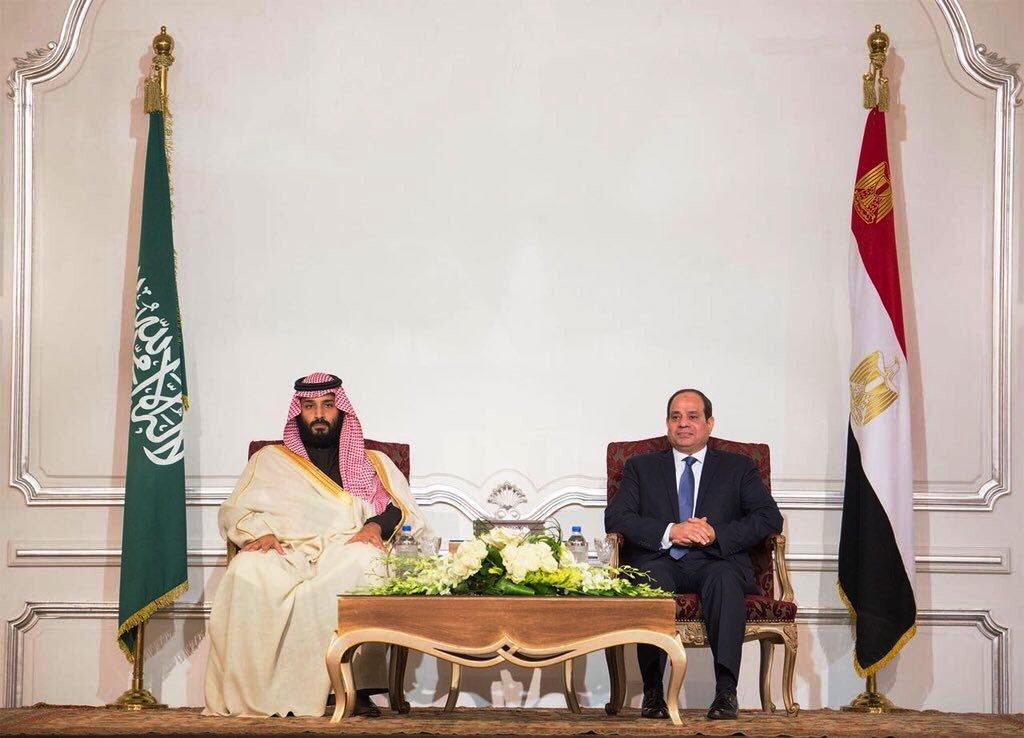 من لقاء الرئيس السيسي وولي العهد السعودي