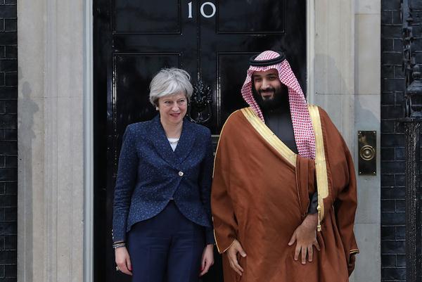 الأمير محمد بن سلمان وتيريزا ماي