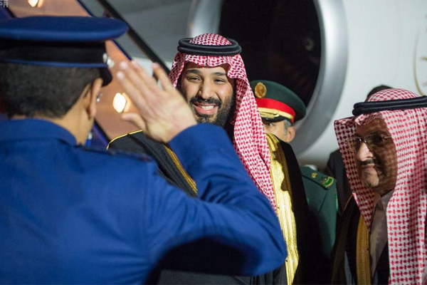 ولي العهد السعودي يصل لندن