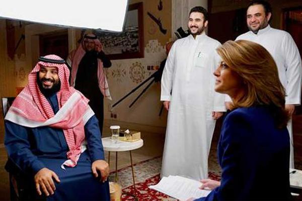 جانب من مقابلة القناة الأميركية مع الأمير محمد بن سلمان
