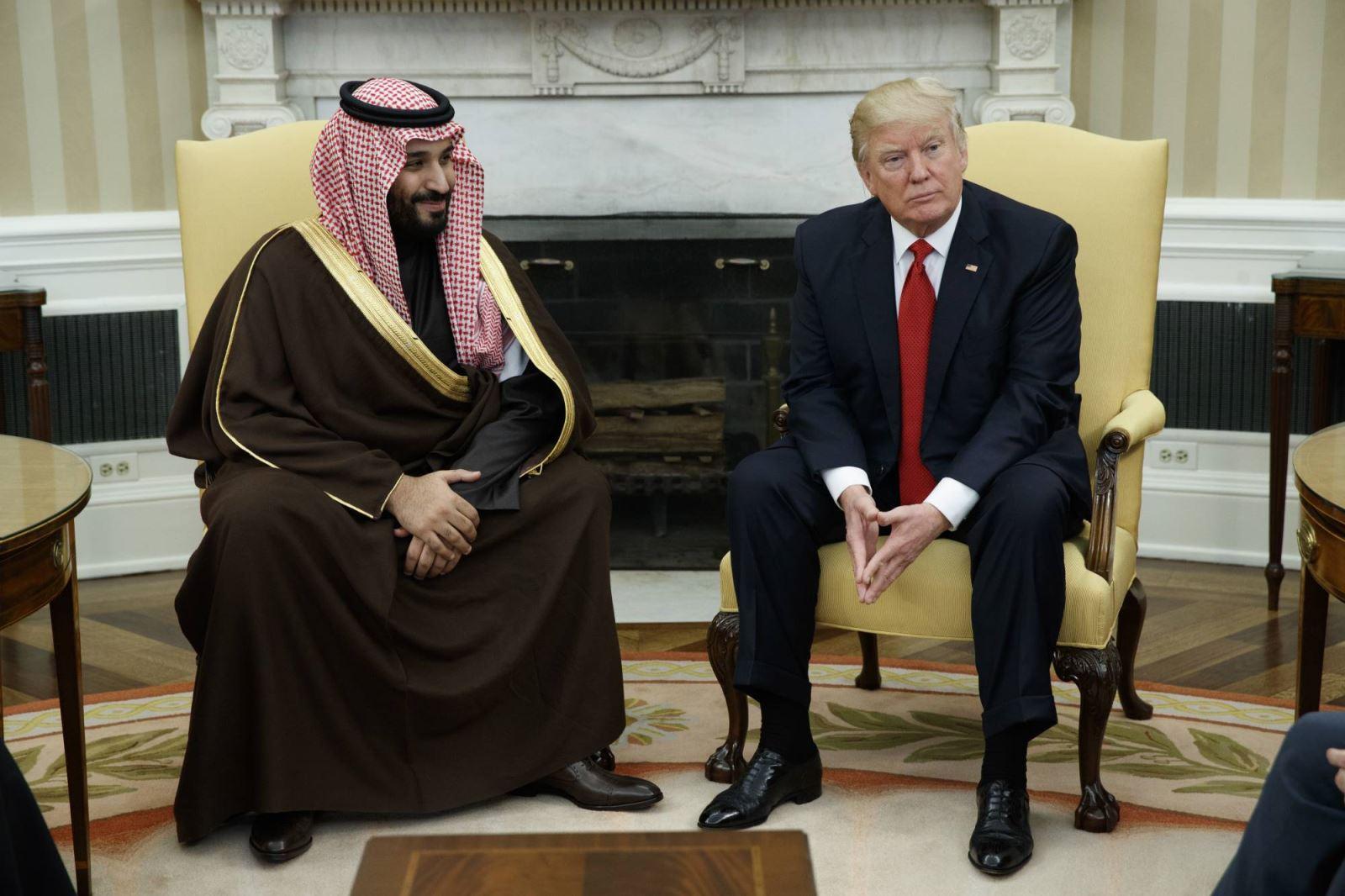لقاء سابق في البيت الأبيض بين ترمب والأمير محمد بن سلمان