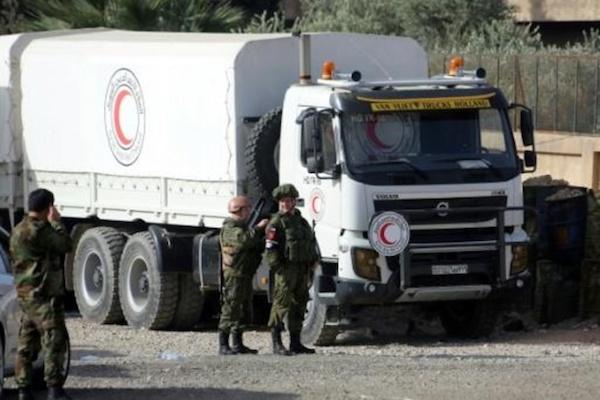 قافلة مساعدات معرضة للخطر في الغوطة