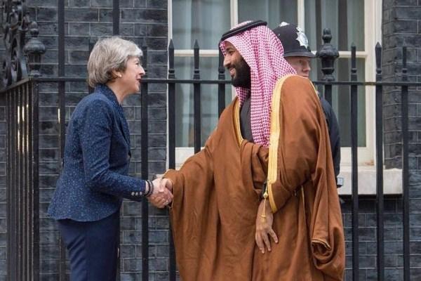 ماي تستقبل الأمير محمد بن سلمان