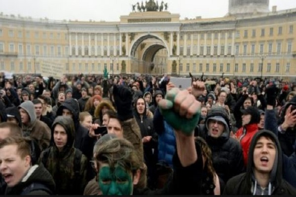 تظاهرة في روسيا- ارشيف