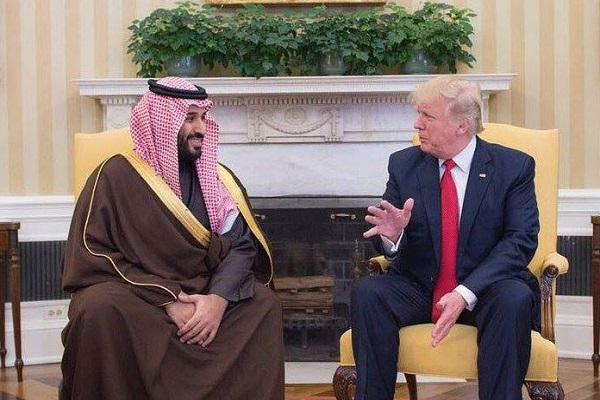 الأمير محمد بن سلمان والرئيس ترمب خلال لقاء سابق