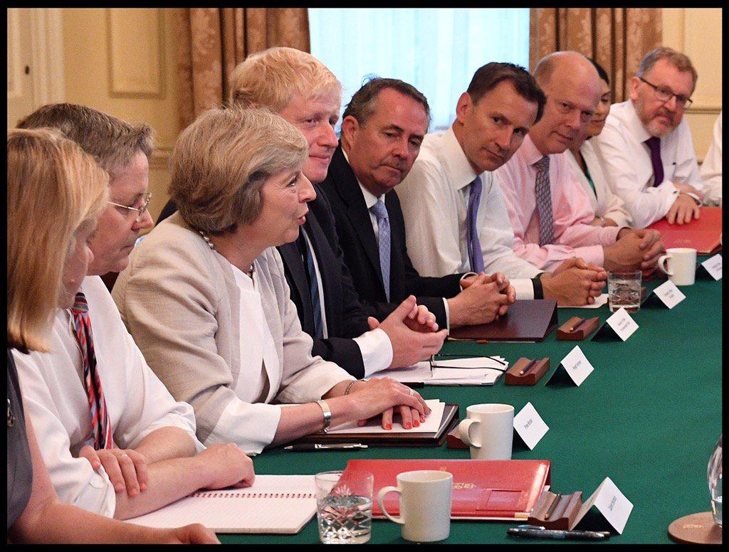 جانب من أحد اجتماعات مجلس الأمن القومي البريطاني
