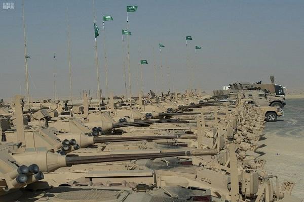 جانب من القوات المشاركة في تمرين درع الخليج