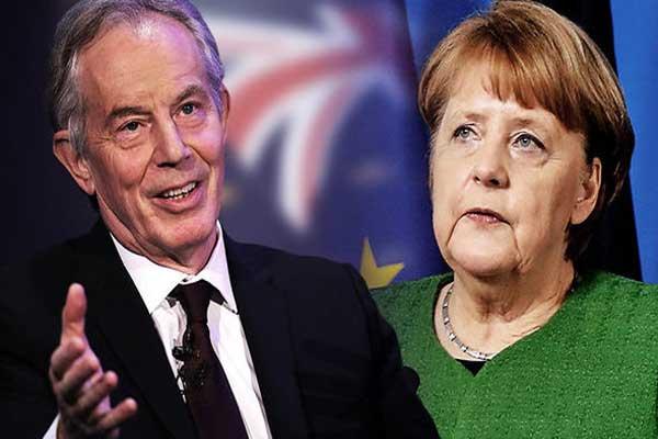 بلير ودعوة لميركل إلى إبقاء بريطانيا في الاتحاد