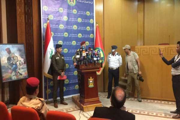 قيادة عمليات بغداد خلال مؤتمرها الصحافي