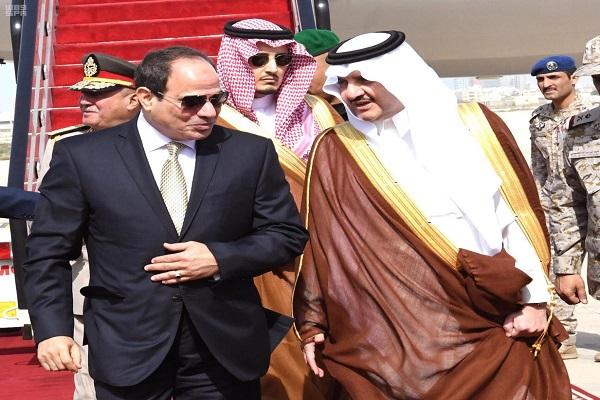 خلال وصول الرئيس المصري عبد الفتاح السيسي المنطقة الشرقية