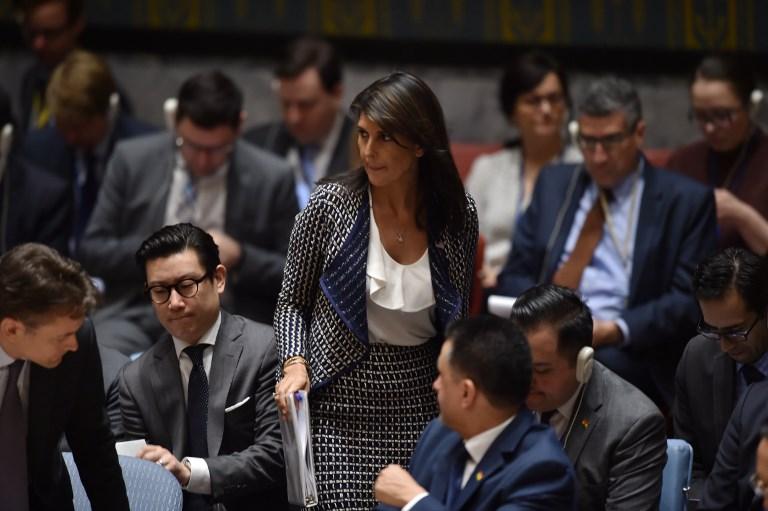 سفيرة الولايات المتحدة في الأمم المتحدة نيكي هايلي