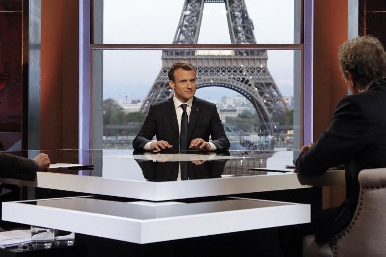 الرئيس الفرنسي خلال المقابلة
