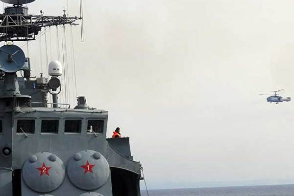 احدى قطع الاسطول الروسي في المتوسط