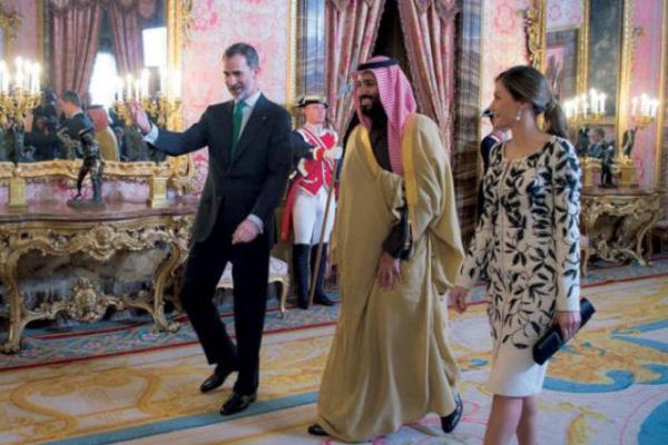 الملك فيليبي مرحبا بالأمير محمد بن سلمان