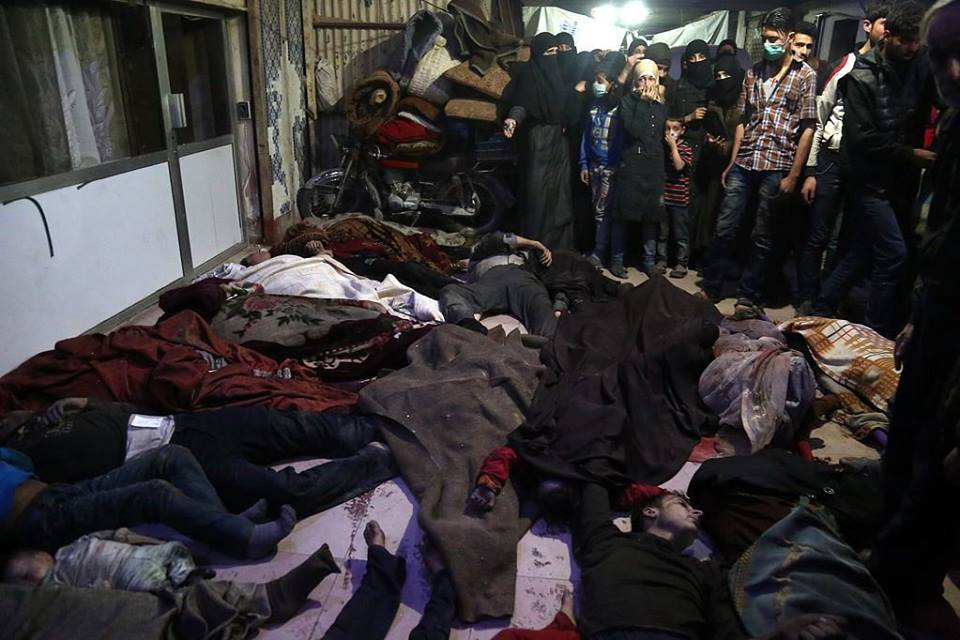 ضحايا الهجوم الكيميائي في دوما