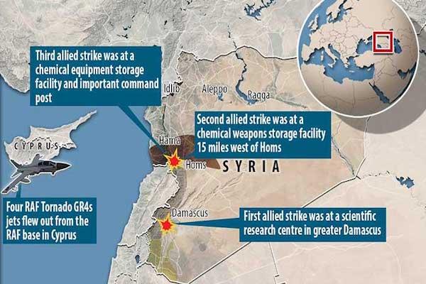 المنشآت السورية التي استهدفتها الضربات المشتركة