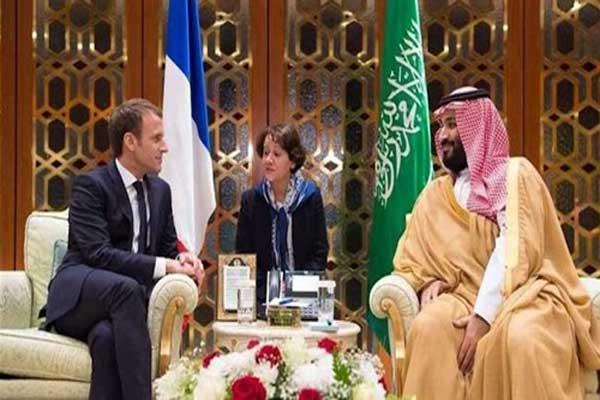 لقاء ثنائي بين الأمير محمد بن سلمان والرئيس ماكرون