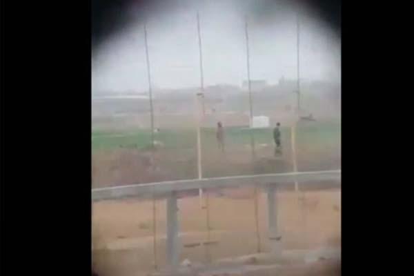 قنص فلسطيني بغزة