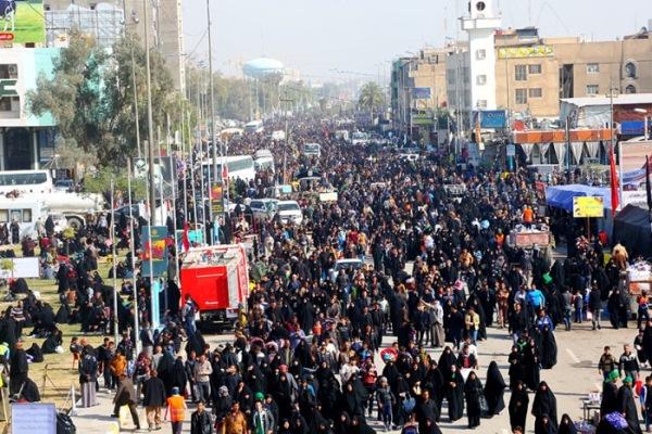 مراسم في منطقة الكاظمية في بغداد لاحياء ذكرى وفاة الامام السابع لدى الشيعة