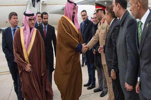 الأمير محمد بن سلمان لدى وصوله إلى مدريد