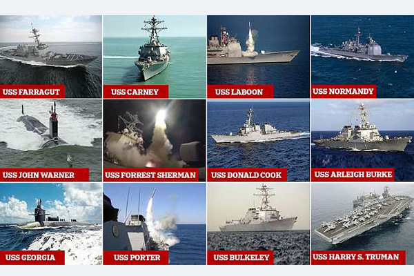 صور القوة البحرية الأميركية المتجهة لى سوريا