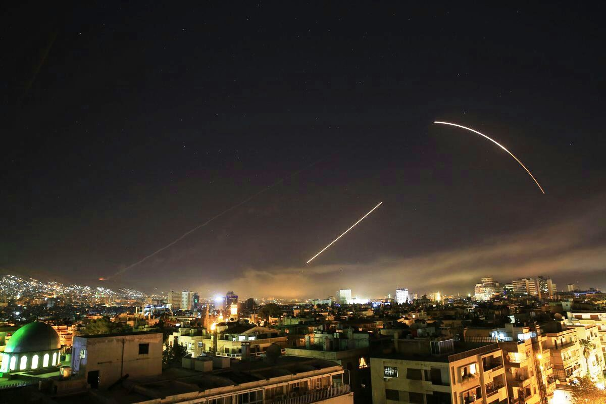 الدفاعات السورية تتصدى لصواريخ الضربة الغربية - سانا